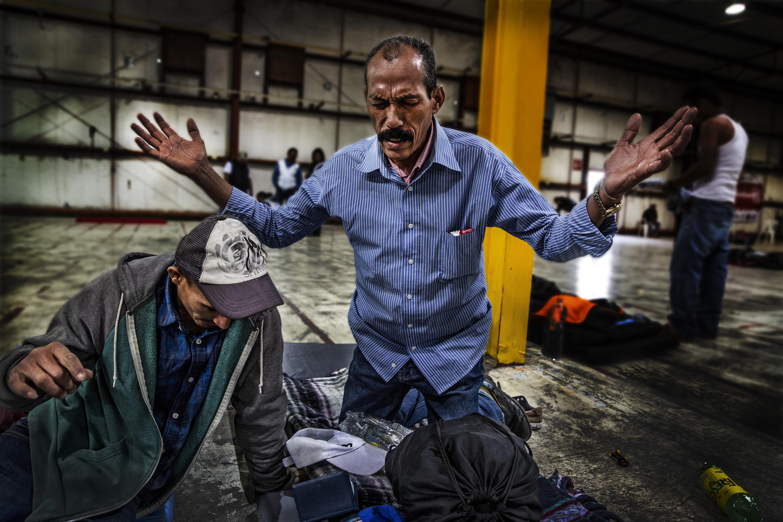 Situé à la frontière avec les États-Unis, lePiedras Negras Sports Pavilion accueille des centaines de personnes arrivées notammentdu Guatemala et du Honduras. Juan Carlos Tomasi/MSF