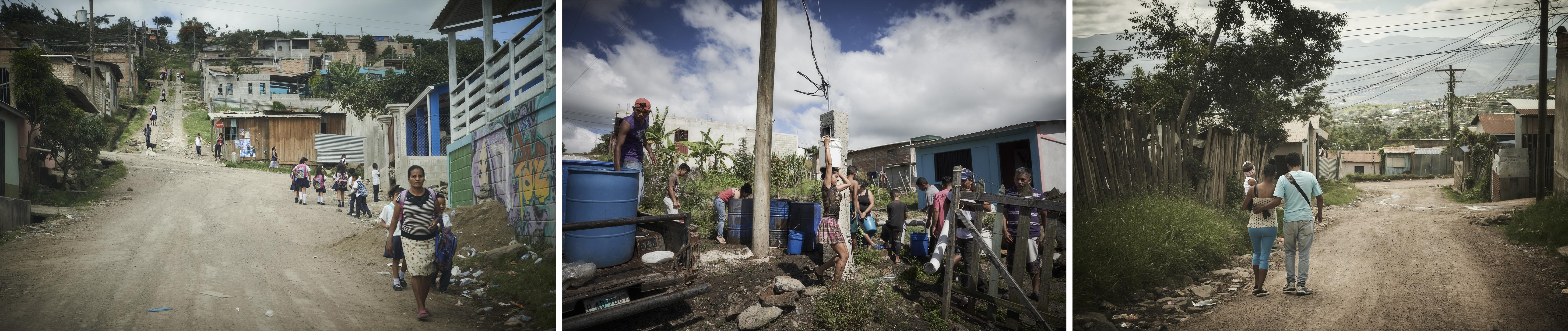 Quartiers où les équipes MSF interviennent à Tegucigalpa, la capitale hondurienne.Christina Simons/MSF