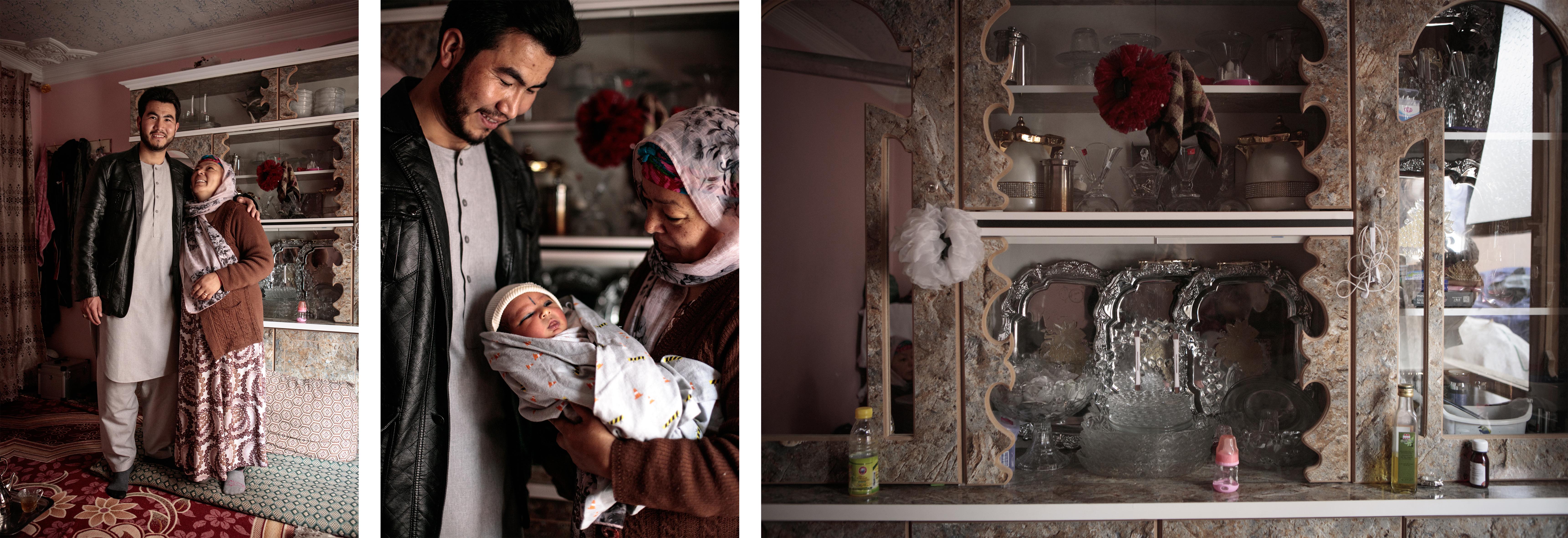 Marzia etMohamad Jawad se sont mariés l'année dernière, ils sont cousins. Les noces ont été célébrées dans unwedding hall, unsalonde mariage. Il y avait 1 500 invités, c'est la moyenne en Afghanistan. Dans la vitrine du meuble de leur chambre, la vaisselle et les divers cadeaux de mariagetrônent.