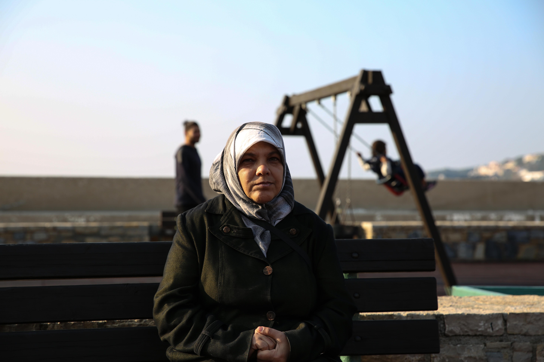 Samira, 50 ans, Palestino-Syrienne, originaire du camp de Yarmouk près de Damas.